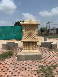 Yellow Stone Temple, Size: 4 Feet X 4 Feet