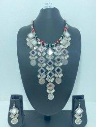 Designer Oxidized Jewellery Set, Occasion: Wedding