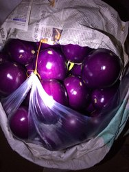 Pan India A Grade Round Brinjal, Crate, 20 Kg