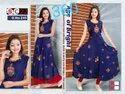 Rayon Anarkali Ladies Designer Long Embroidered Kurti, Size: Xl And Xxl, Wash Care: Machine Wash