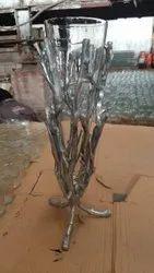 Modern Aluminium Flower Vases, For Decoration, Size: Small
