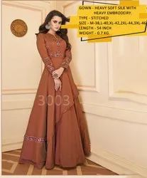 Silk Readymade Gown