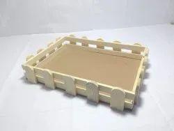 Pinewood Fence Basket