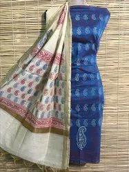 Casual Wear Maheshwari Handblock Print Suit
