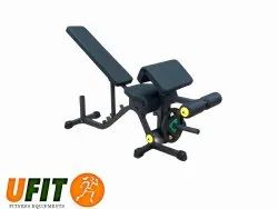 U Fit Preacher Adjustable Bench With Leg Curl/Extn