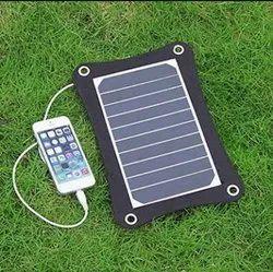 Black Solar Mobile Charger, Capacity: 5 Amps, 6 Watt