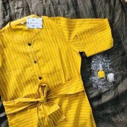 Cotton Fabric Comfort Dress