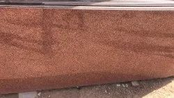 Polished Imperial Red Granite Slab, Thickness: 15 mm
