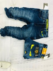Party Wear Plain Light Blue Jeans For Men, Size: 28-34
