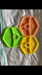 Maa Plast Yellow, Green And Orange Plastic Plate