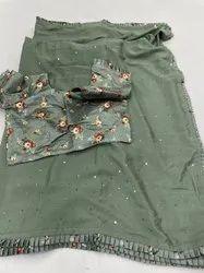 Designer Sarees Ready Blouse Rs 3500