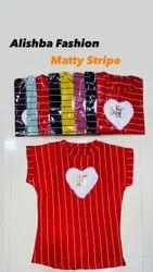 Alishba Fashion Matty Twill Stripe T Shirt