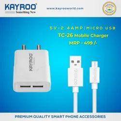 Kayroo Mobile Charger 2.4Amp Dual USB