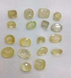 Sri Lankan Natural Ceylon Yellow Sapphire Pukhraj Gemstone