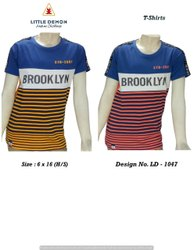 Lycra Cotton Casual Wear Kids T Shirt