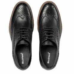 Blackford Leather Brogue Shoes Black