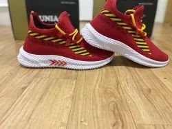Men Sports Shoes, For Walk And Run, Model Name/Number: Uniage -102 Red And White