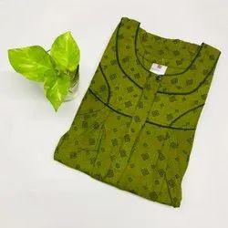 Full Length Printed Designer Spun Cotton Nighties