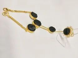 Necklace Golden Bracelete With Ring