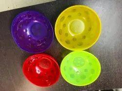 Multicolor Round Plastic Bowl, For Home