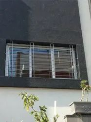 Powder Coated Stainless Steel Window Grill, Material Grade: 304,316