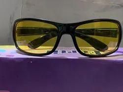 Casual Wear Black Night Vision Goggles Sunglasses Bike Driving Yellow