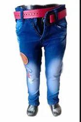 Denim Party Wear Kids Jeans, Machine wash