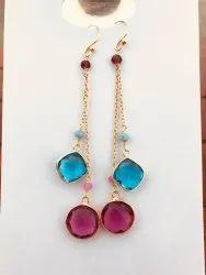 Golden Party Chain Earrings