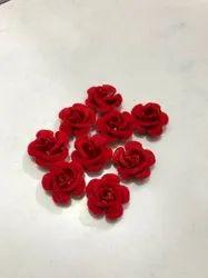 Red Velvet Rose Flower, Size: 6cm, Packaging Size: 100 Pcs