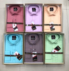 Plain Collar Neck Samray Pure Cotton Men Formal Shirt