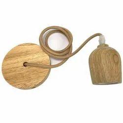 Decorative E27 Wooden Bulb Holder