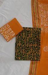 Wax Batik Cotton Unstitched Dress Material 150Gsm
