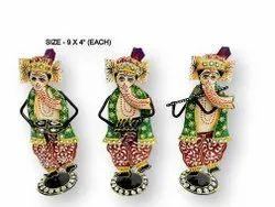 Iron Meenakari Ganesh