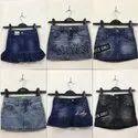 Kids Girls Denim Skirt