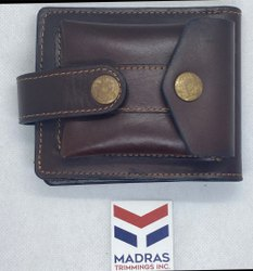 Bi Fold Mens Genuine Leather Wallet, Card Slots: 6