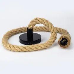 Vintage Jute Rope Holder E27