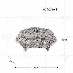 White Metal Rakhi Gift Box