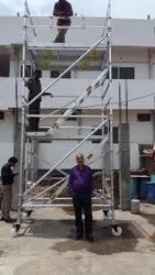 Crystal Aluminium Stairway Mobile Scaffolding Double Width