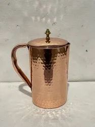 M.S ENTERPRISES Hammered Copper Water Jug, For Home, Size: 1500ml