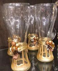 Multicolor Toughened Glass Designer Glasses, For Home