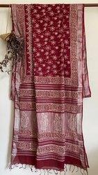 Linen Saree, 6.3 m (with blouse piece)
