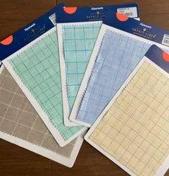 Multicolor 100% Linen Checks Fabric
