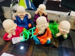 Painting ANTIQUE Baby Monk Set, For Decoration, Size/Dimension: 5*3