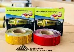 Avery Dennison Series V6700B Conspicuity Tape Ais 090 With Barcode Qr Red White Yellow 2Inch X 50M