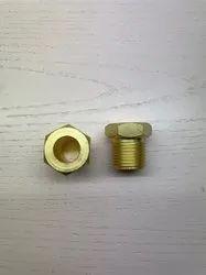 Round Brass Oxygen Nut, For Industrial