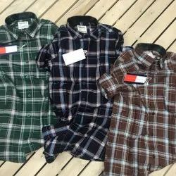 Male Checked Cotton Shirts