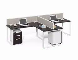 Prelam Board White Office Furniture, Size: 1200x600x750