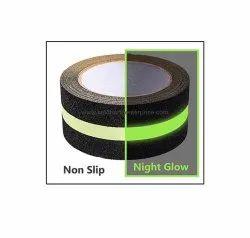 Anti Slip Tape Roll Adhesive Floor - Black 12Mm Glow Indark Strip