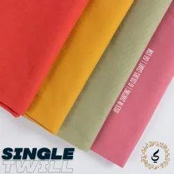 Pure Cotton Single Twill Shirt Fabric, Palin, Blue