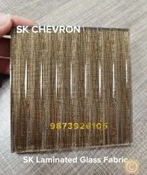Laminated Tempered Decorative Glass Interlayer Fabric For Door, Thickness: 0.8 mm